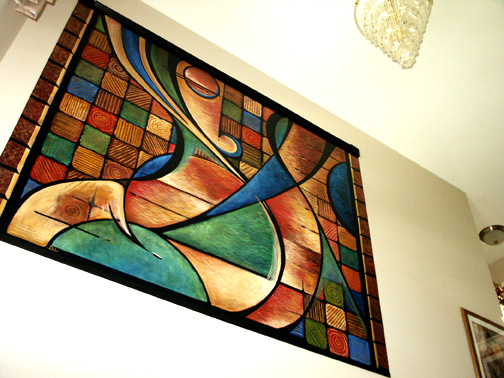 Photo collection abstract paint mural for for Abstract mural painting