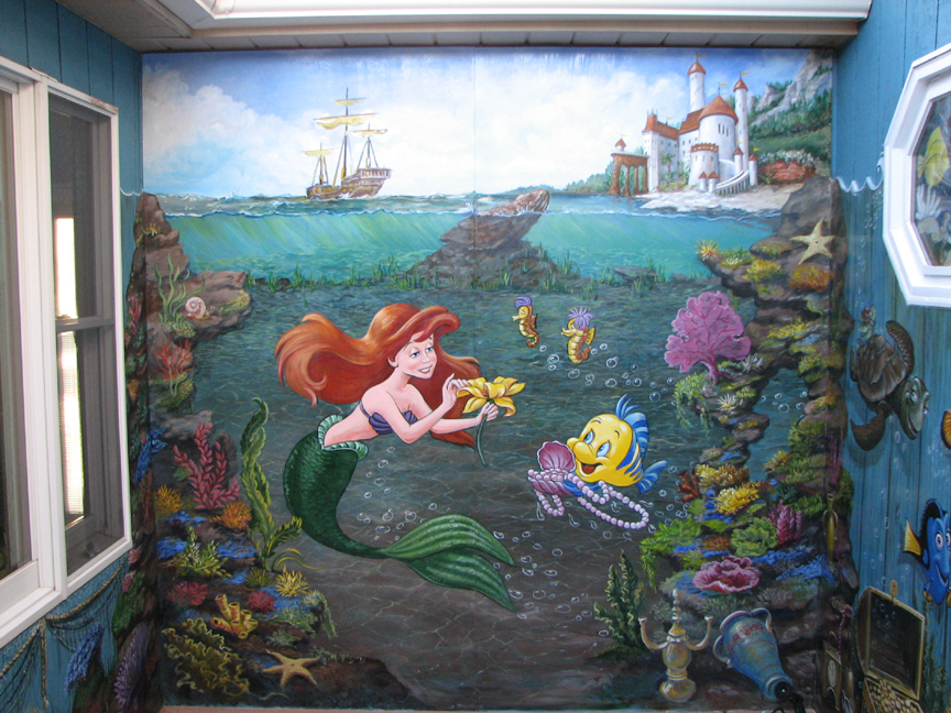 Under the sea wall mural for Exterior mural painting